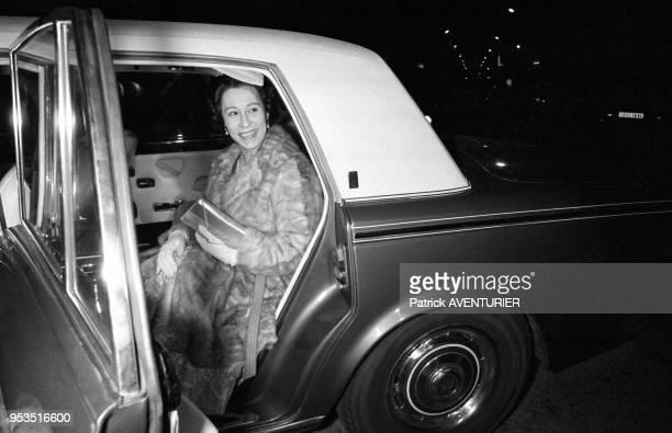 Sosie de la Reine Elisabeth d'Angleterre lors du championnat de France de sosies à Nice le 12 mars 1984 France