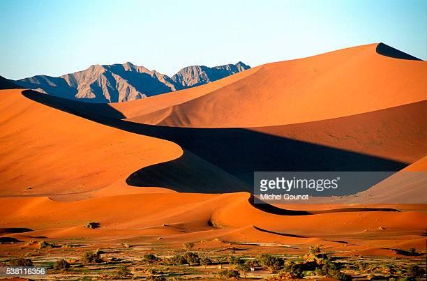 sossusvlei dunes in the namib desert - namibia fotografías e imágenes de stock