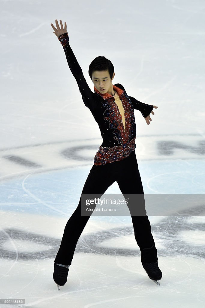 Sota Yamamoto of Japan competes in the Men short program during the day one of the 2015 Japan Figure Skating Championships at the Makomanai Ice Arena on December 25, 2015 in Sapporo, Japan.