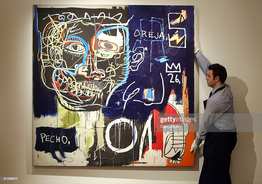 Work By Jean-Michel Basquiat To Be Auctioned : News Photo