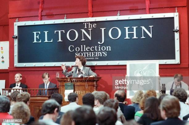 Sotheby's auction of Elton John items. 6th September 1988.