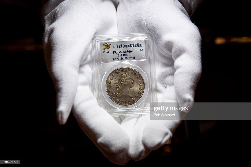 $100 Million Coin Collection Previews At Sothebys : News Photo