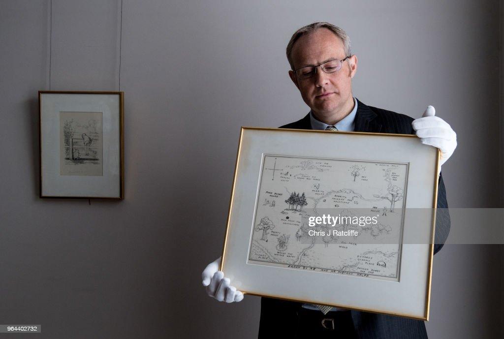 Unveiling Of Original Winnie-The-Pooh Sketch : News Photo