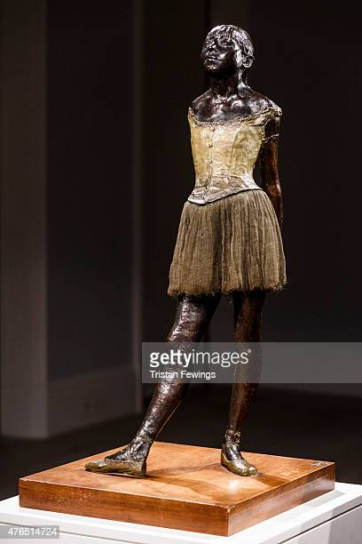 Sotheby's previews one of the most important and iconic sculptures Edgar Degas' Petite Danseuse de quatorze ans at Sotheby's on June 9 2015 in London...