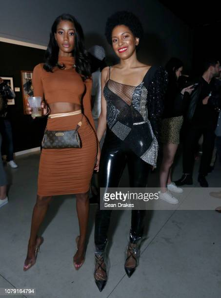 Sotheby's real estate advisor Jazzma Kendrick and Gucci sales associate Joana Marquez pose at the Bacardi No Commission Marquee Performance hosted by...