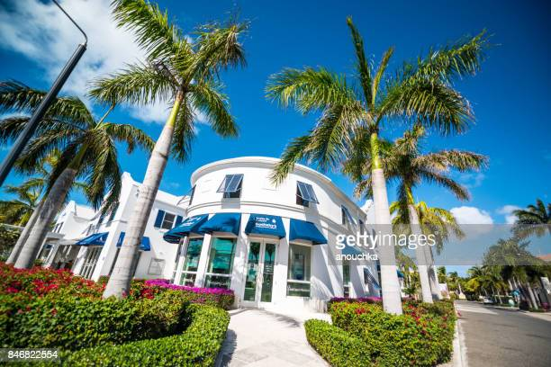 sotheby's real estate office in providenciales. turks and caicos - grand bahama stock photos and pictures