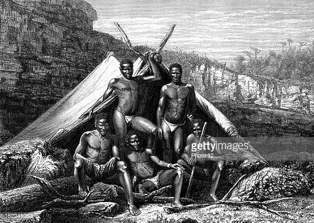 Sotho people in South Africa Engraving