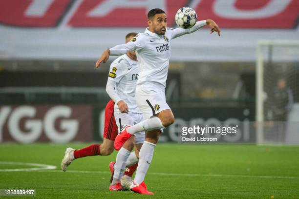 Sotirios Papagiannopoulos of AIK during the Allsvenskan match between Ostersunds FK and AIK at Jamtkraft Arena on October 4, 2020 in Ostersund,...
