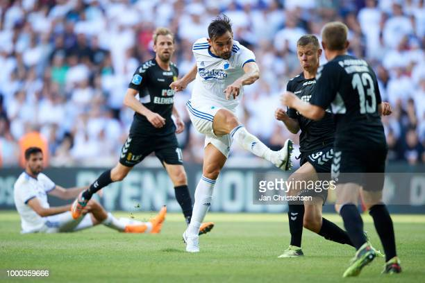 Sotirios Papagiannopoulos of FC Copenhagen in action during the Danish Superliga match between FC Copenhagen and AC Horsens at Telia Parken Stadium...