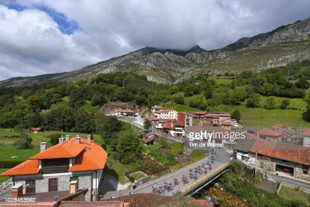Soto Village / Landscape / Peloton / Mountains / Bridge / during the 73rd Tour of Spain 2018 Stage 13 a 1748km stage from Candas Carreno to Valle de...