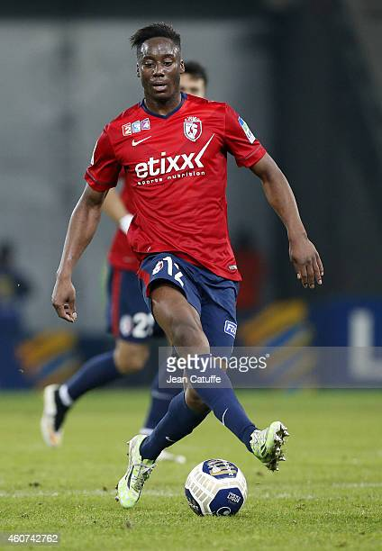 Soualiho Meite of Lille in action during the French League Cup match between Lille OSC and Girondins de Bordeaux at Grand Stade Pierre Mauroy stadium...