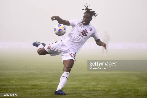 Soualiho Meite of Torino FC in action during the Serie A football match between US Sassuolo and Torino FC The match ended 33 tie