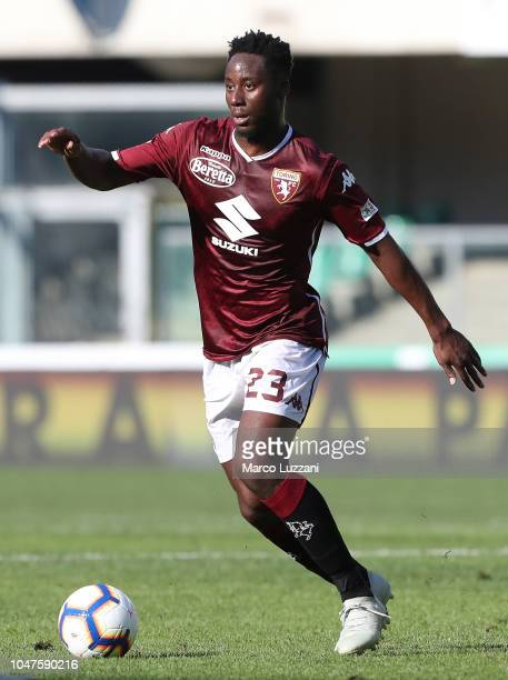 Soualiho Meite of Torino FC in action during the Serie A match between Chievo Verona and Torino FC at Stadio Marc'Antonio Bentegodi on September 30...