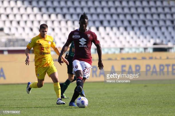 Soualiho Meite of Torino FC in action during the Serie A match between Torino Fc and Cagliari Calcio Cagliari Calcio wins 32 over Torino Fc