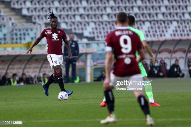 Soualiho Meite of Torino FC in action during the Serie A match between Torino Fc and Ss Lazio. Ss Lazio wins 4-3 over Torino Fc.