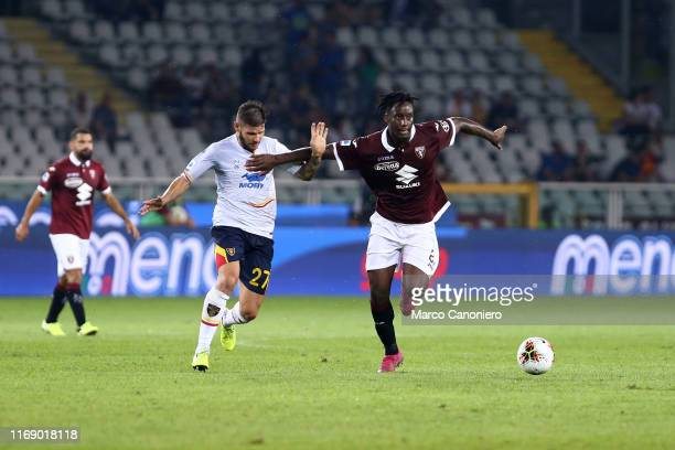 Soualiho Meite of Torino FC in action during the the Serie A match between Torino Fc and Us Lecce. US Lecce wins 2-1 over Torino Fc.