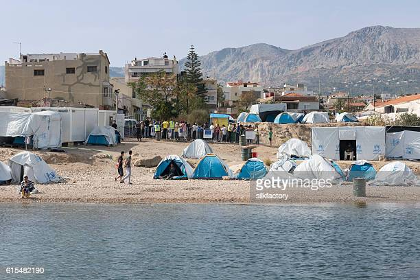 Souda refugee camp on Chios Island in Greece