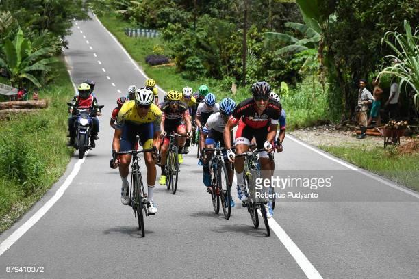 Soufiane Sahbaoui of Marocco and VIB Bikes Bahrain competes during stage 9 of the Tour de Singkarak 2017 PasamanBukittinggi 1172 km on November 26...