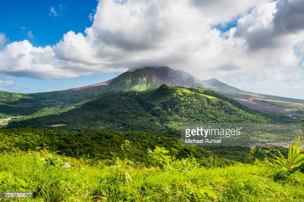 soufriere hills volcano, montserrat, british overseas territory, west indies, caribbean, central america - antilles stock pictures, royalty-free photos & images