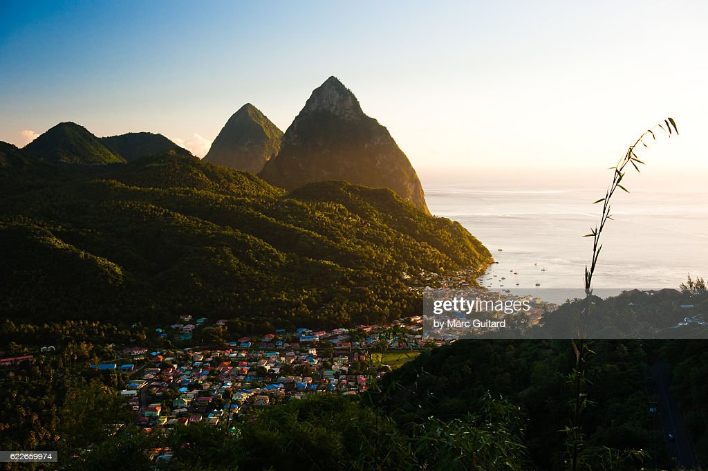 Soufriere, Saint Lucia : Stock Photo