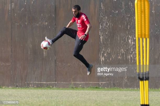 Soufyan Ahannach of Go Ahead Eagles seen during the first training of Go Ahead Eagles following the coronavirus lockdown on May 8, 2020 in Deventer,...