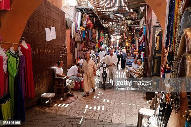 A souk in the medina of marrakech.