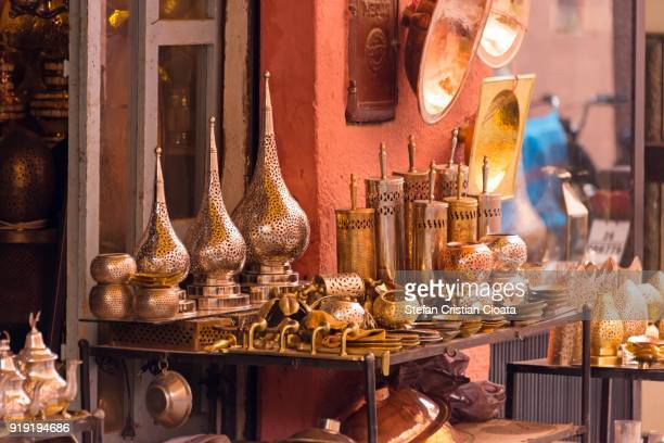 souk (bazaar) in the moroccan old town - agadir stock pictures, royalty-free photos & images