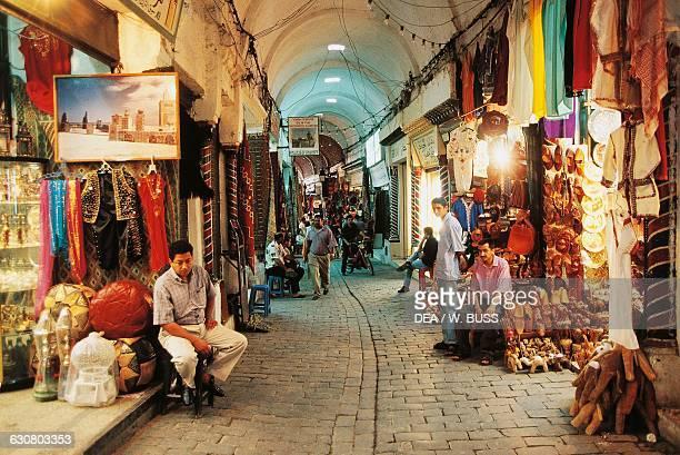 Souks in the medina of Tunis Tunisia