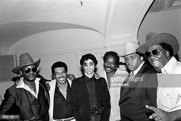 Soul Clan with Peter Wolf of the J Geils Band at the Savoy in New York City on July 23,1981. Joe Tex, Ben E. King, Peter Wolf, Wilson Pickett,...