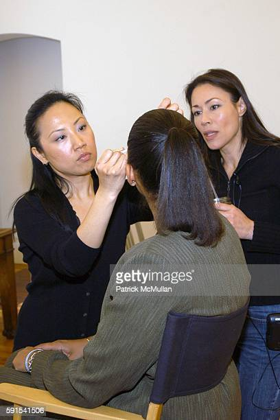 Soul Lee Joi Gordon and Ann Curry attend Bobbi Brown and Deborah Roberts host Girl Talk Makeovers and Lunch in Support of Dress for Success at Bobbi...