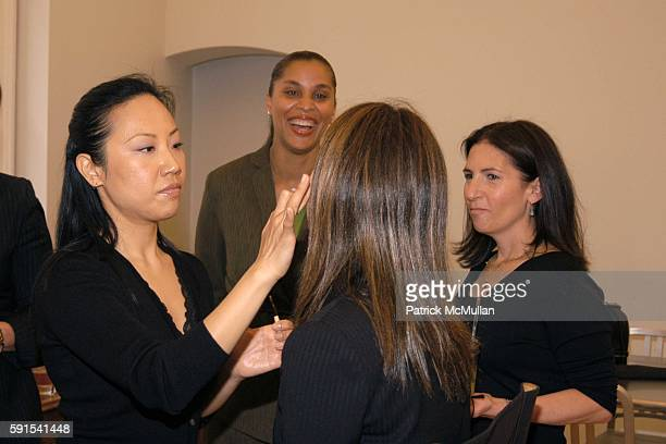 Soul Lee Joi Gordon Ann Curry and Bobbi Brown attend Bobbi Brown and Deborah Roberts host Girl Talk Makeovers and Lunch in Support of Dress for...