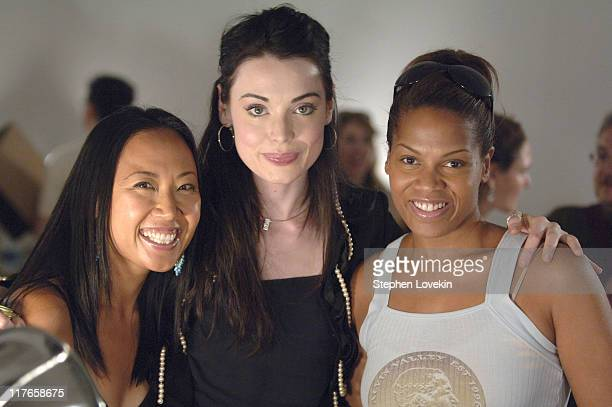 Soul Lee Yoanna House and Cyndee Watson during Olympus Fashion Week Spring 2006 Bobbi Brown at Roland Mouret at Skylight Studios in New York City New...