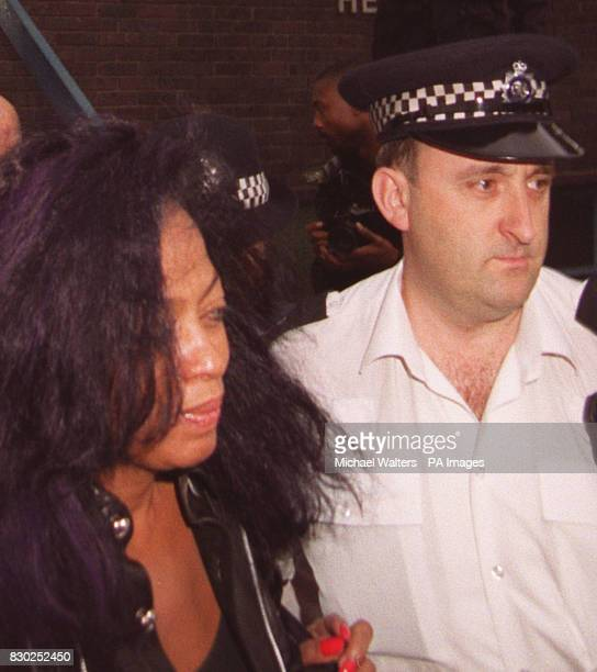 Soul legend Diana Ross leaves Heathrow Airport police station after spending five hours in custody for assaulting a security officer Miss Ross was...