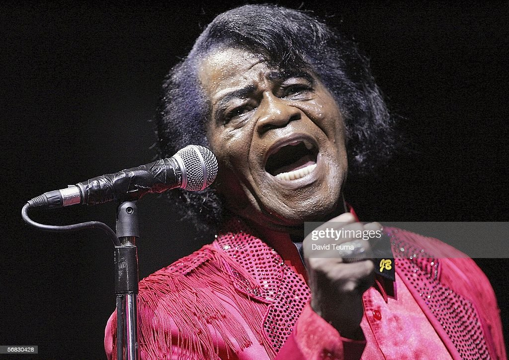 Soul legend James Brown performs during the 2006 Good Vibrations Festival at the Sidney Myer Music Bowl on February 12, 2006 in Melbourne, Australia.