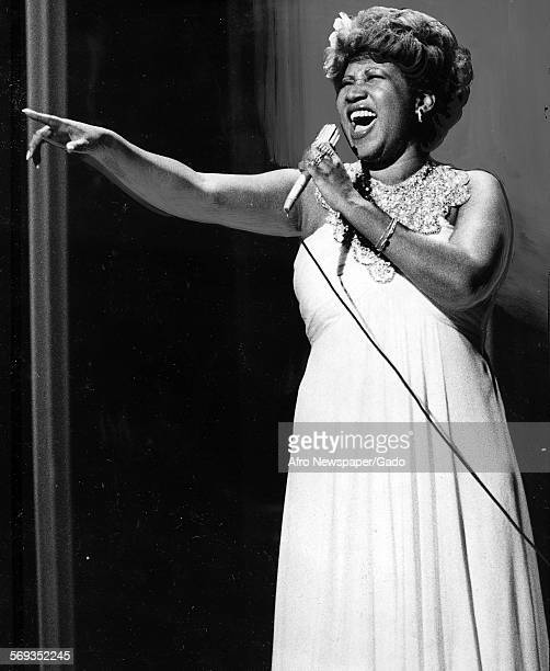 Soul music singer Aretha Franklin 1977