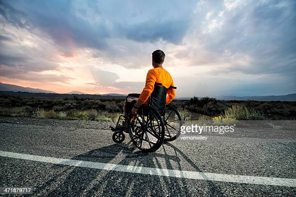 soul searching - paraplegic stock photos and pictures