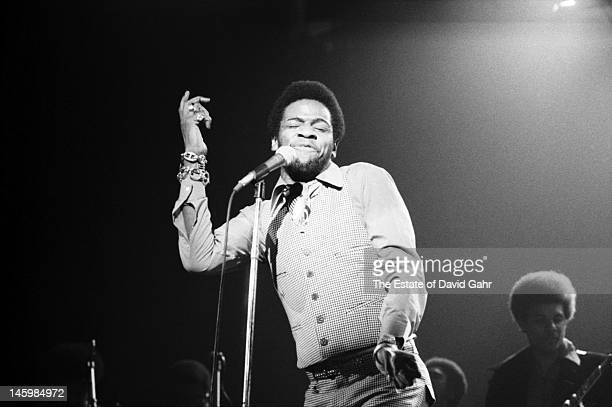 Soul singer Al Green in performance in February 1973 for ABCTV's In Concert series filmed at the Bananafish Theater in Brooklyn New York
