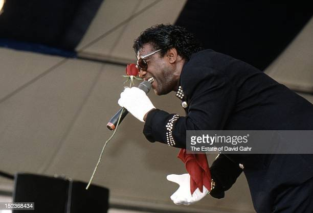 Soul singer Al Green performs in August 1995 at the New Orleans Jazz and Heritage Festival in New Orleans Louisiana