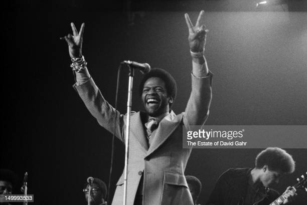 Soul singer Al Green performs in February 1973 for ABC-TV's In Concert series filmed at the Bananafish Theater in Brooklyn, New York.