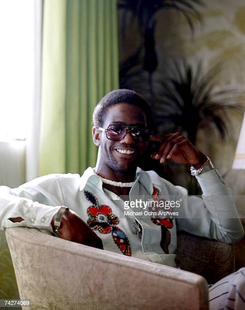 Soul singer Al Green poses for a portrait in a hotel room in November 1975 in Los Angeles, California.
