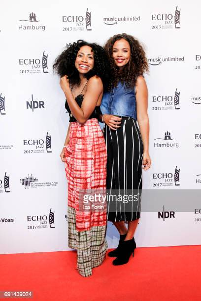 Soul singer and song writer Y'akoto with her sister during the Echo Jazz 2017 onJune 1 2017 in Hamburg Germany