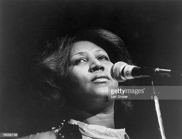 Soul singer Aretha Franklin performs onstage in circa 1972