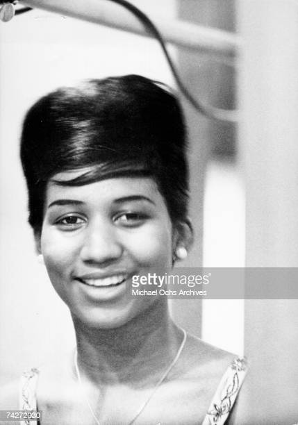 Soul singer Aretha Franklin poses for a portrait in circa 1962