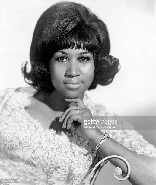 Soul singer Aretha Franklin poses for a portrait in circa 1963