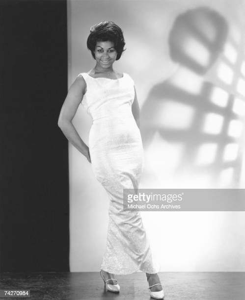 Soul singer Aretha Franklin poses for a portrait in circa 1964