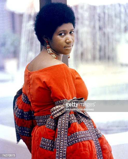 Soul singer Aretha Franklin poses for a portrait in circa 1968
