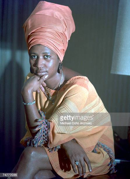 Soul singer Aretha Franklin poses for a portrait in circa 1970