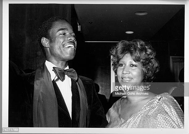 Soul singer Aretha Franklin poses for a portrait with her husband Glynn Turman in circa 1980