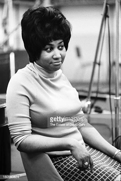 Soul singer Aretha Franklin recording in the studios of Atlantic Records in April 1968 in New York City New York