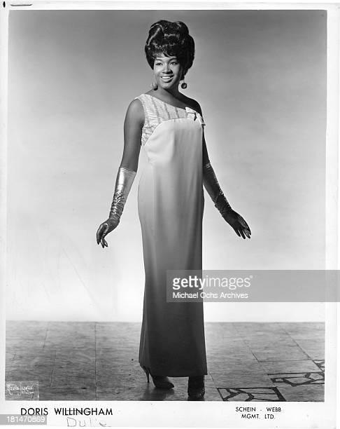 Soul singer Doris Willingham aka Doris Duke poses for a portrait in 1966 in New York New York